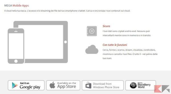 MEGA mobile app
