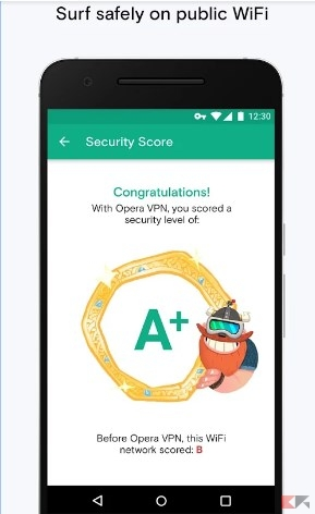 Opera Free VPN public
