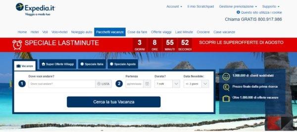 Pacchetti vacanze e viaggi – Prenota la tua vacanza online