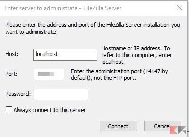 Password amministrazione