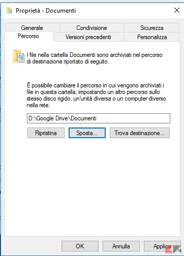 Proprietà - Documenti cloud