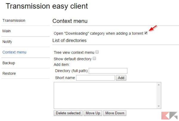 Transmission easy client