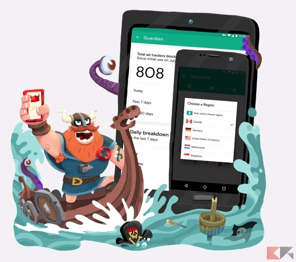 Opera VPN su Android