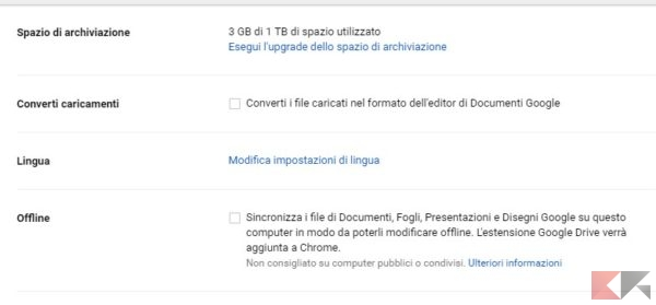 Trucchi Google Drive