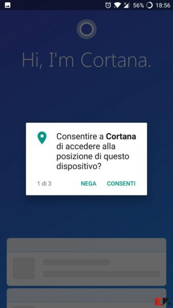 Notifiche Android su Windows 10 con Cortana