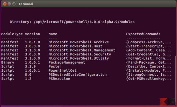 powershell-linux
