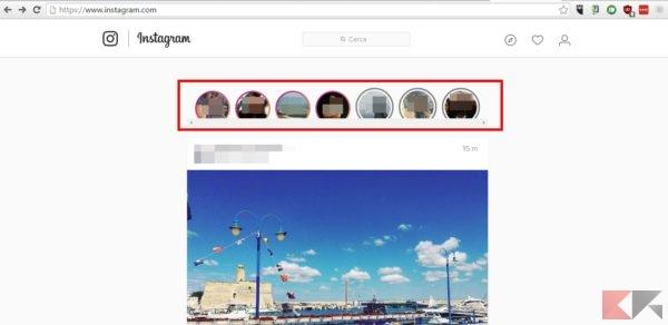 Vedere le storie di Instagram su PC