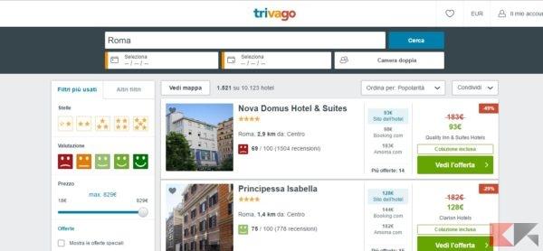 trivago_ Il motore di ricerca Hotel più grande al Mondo