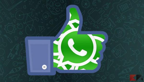 Disattivare condivisione dati WhatsApp Facebook