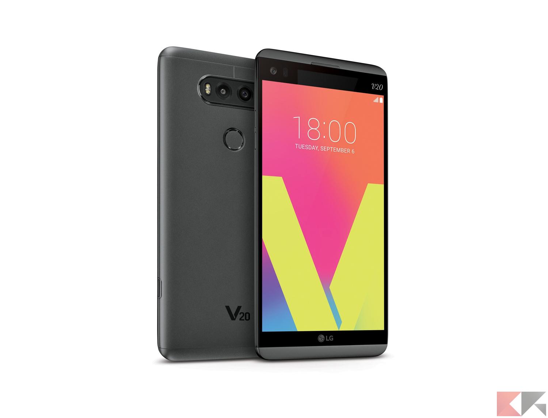 """LG V20 è uno smartphone con display da 5.7"""" e risoluzione 2560 x 14"""