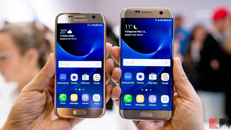 Super sconti: Samsung Galaxy S7 Edge da 549€ e Galaxy S7 da 495€