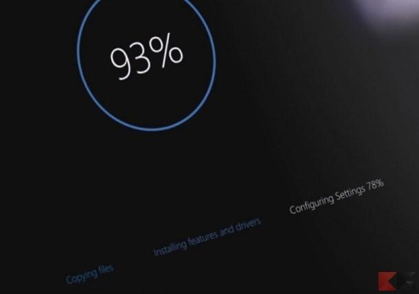 Spegnere o riavviare Windows 10 evitando gli aggiornamenti