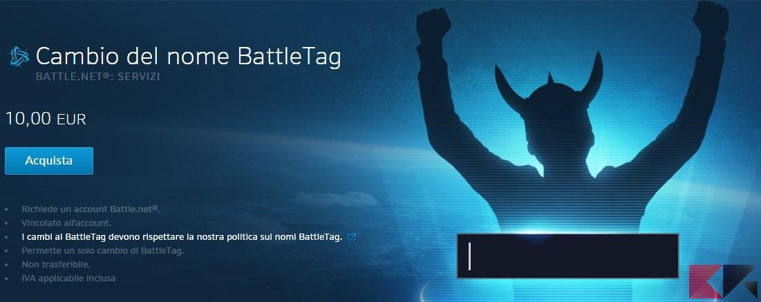 Blizzard ora permette di cambiare BattleTag più volte (a pagamento)