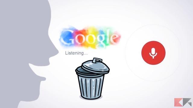 Come cancellare la cronologia delle ricerche vocali Google