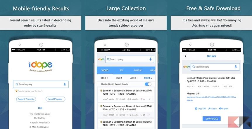 iDope: la migliore app per cercare torrent su Android