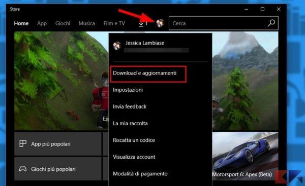 Visualizzare le app aggiornate di recente in Windows 10