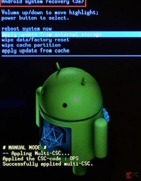 Hard Reset Samsung Galaxy - recovery