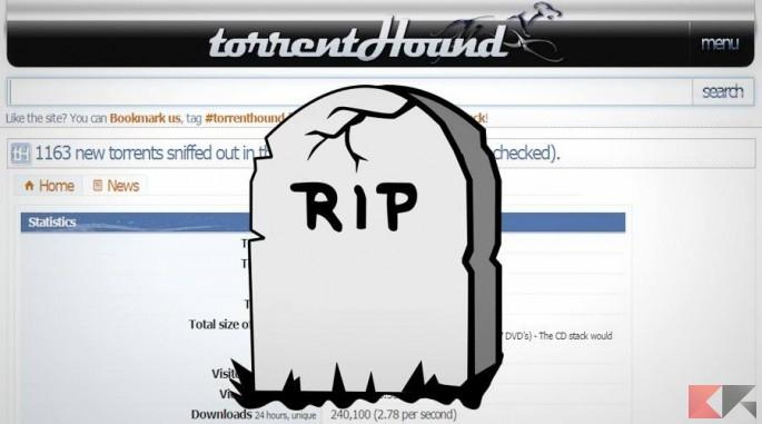 TorrentHound chiude i battenti: addio al decennale sito di ricerca BitTorrent