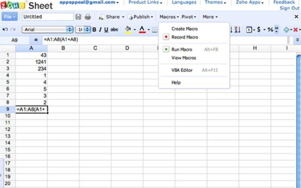 zoho-sheet_risultato