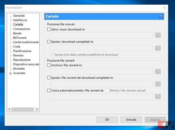 Come usare utorrent guida completa chimerarevo for Porte utorrent
