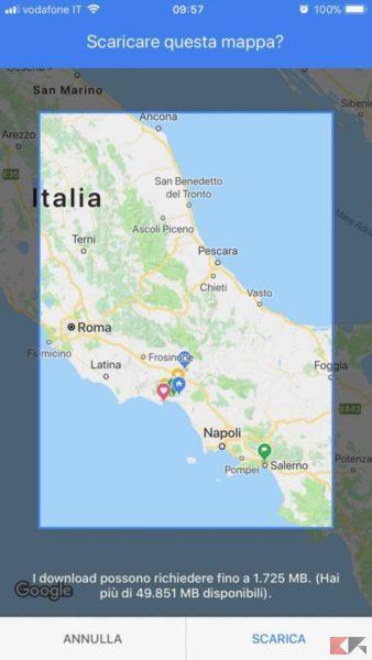 Come usare Google Maps offline senza Internet