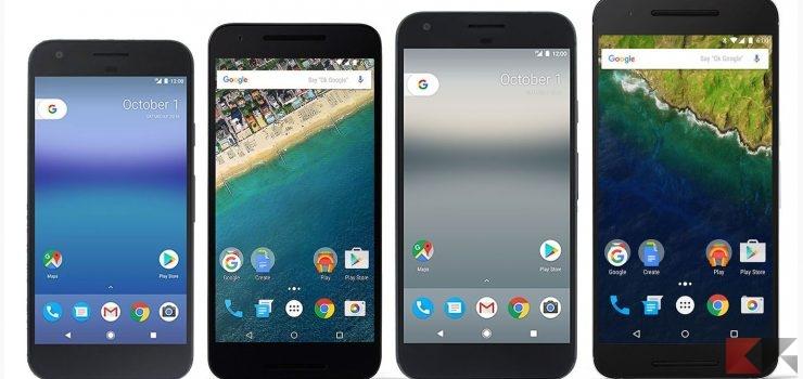 Google Pixel vs Pixel XL vs Nexus: il confronto!