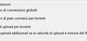Numero di connessioni utorrent