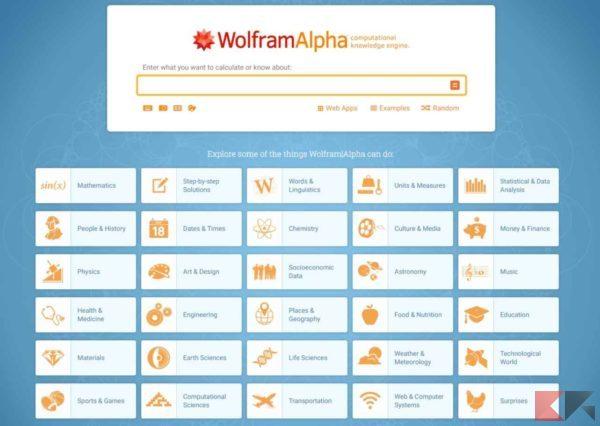 Risolvere espressioni - wolfram alpha