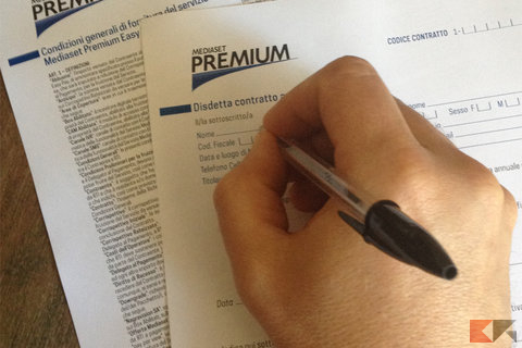Disdetta Mediaset Premium: modulo e cosa fare