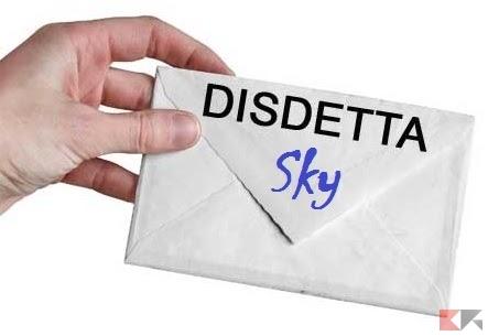 Disdetta Sky: modulo e cosa fare (anche TIM Sky)