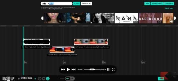Modifica video online - dragontape