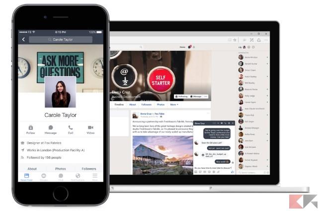 Facebook presenta Workplace, il social network per l'ufficio