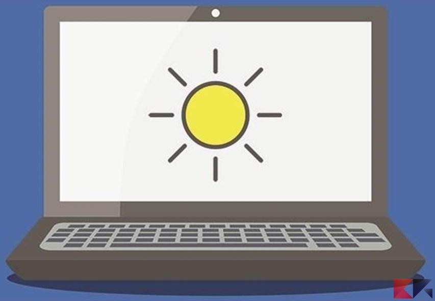 Come modificare la luminosità schermo del PC