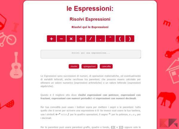 matematica.click - risolvere espressioni