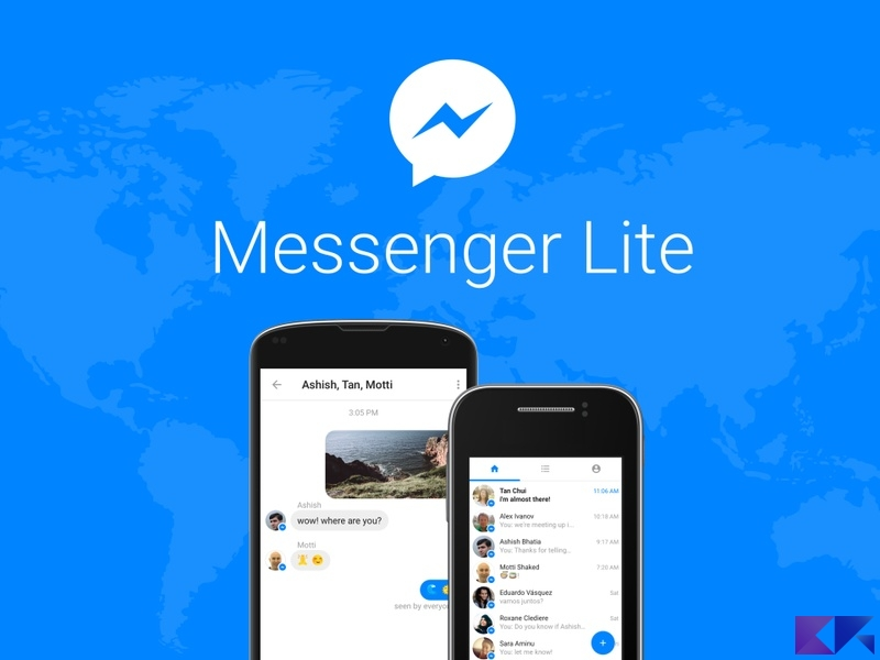 Messenger Lite: l'alternativa a Messenger di Facebook