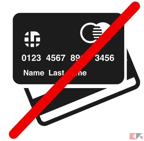 acquistare online senza carta di credito