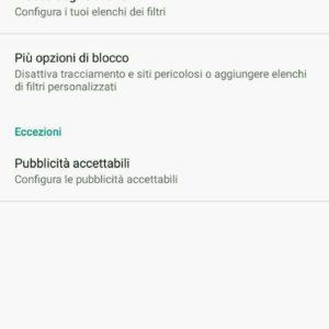 bloccare popup pubblicità Android