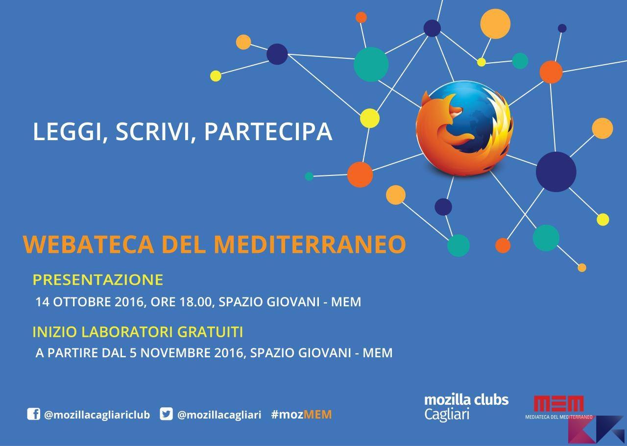 Mozilla Cagliari Club si presenta il 14 ottobre