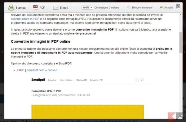 siti web in pdf