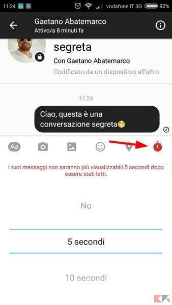 conversazione segreta Facebook Messenger