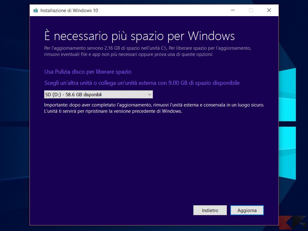 Liberare spazio Windows eliminando le patch