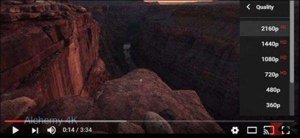 video 4k streaming Youtube