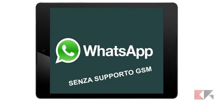 whatsapp per tablet