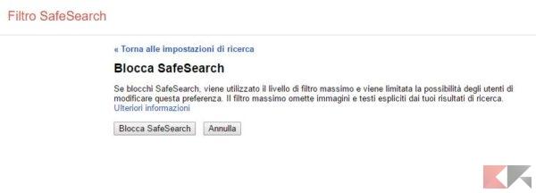 blocca-safesearch