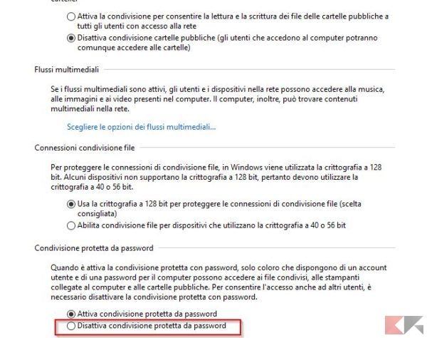 Come condividere cartelle in rete senza password su Windows