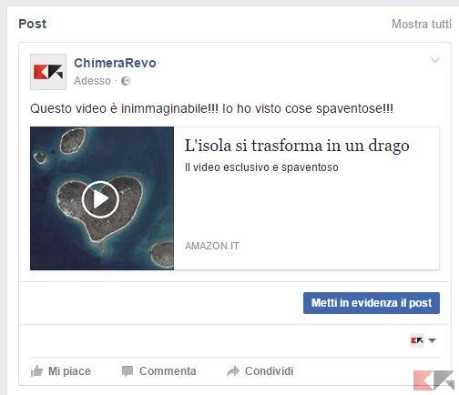 falso video facebook