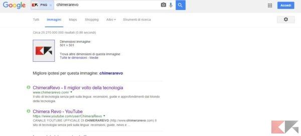 ricerca immagini su google tramite foto