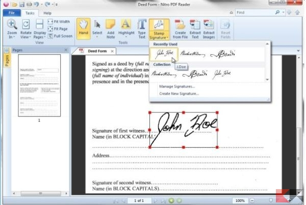 Scrivere su PDF: inserire testo e firma
