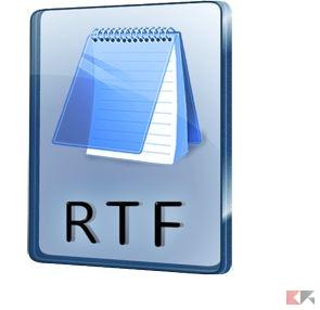 Aprire e convertire RTF in PDF o Word