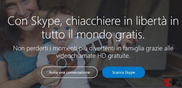 Come usare Skype senza account
